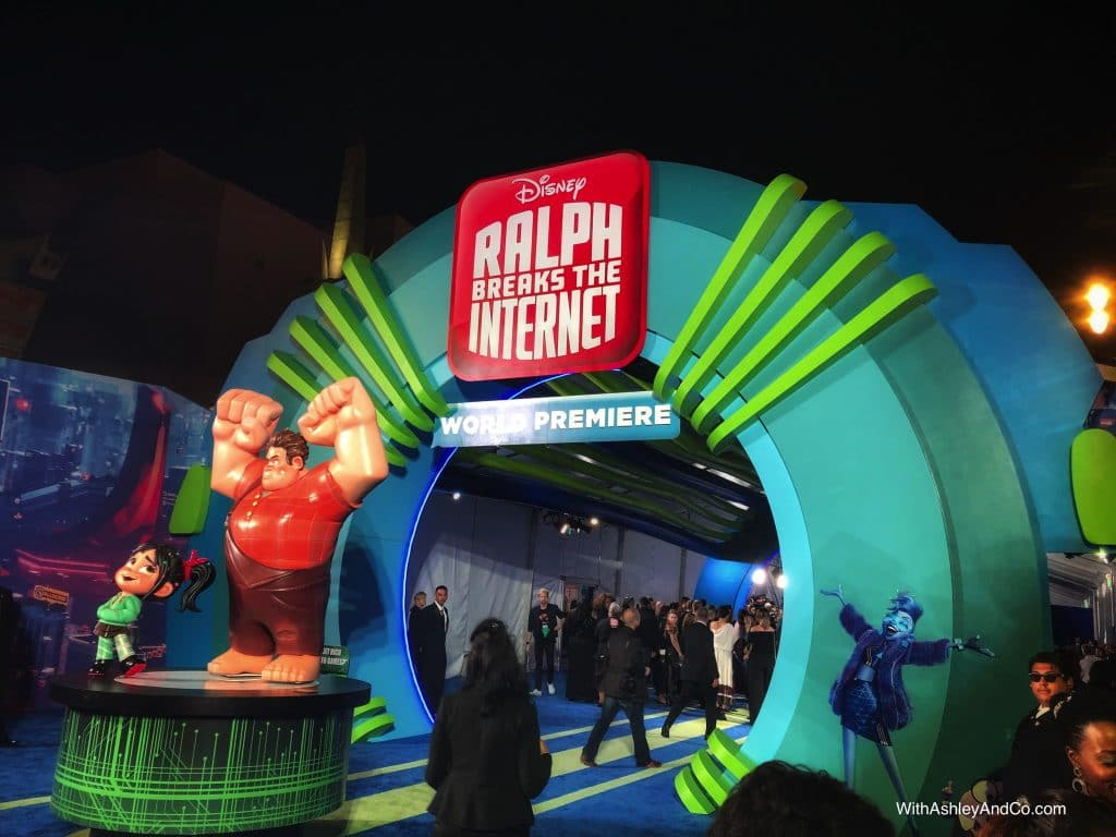 Walking the Red Carpet For Ralph Breaks The Internet