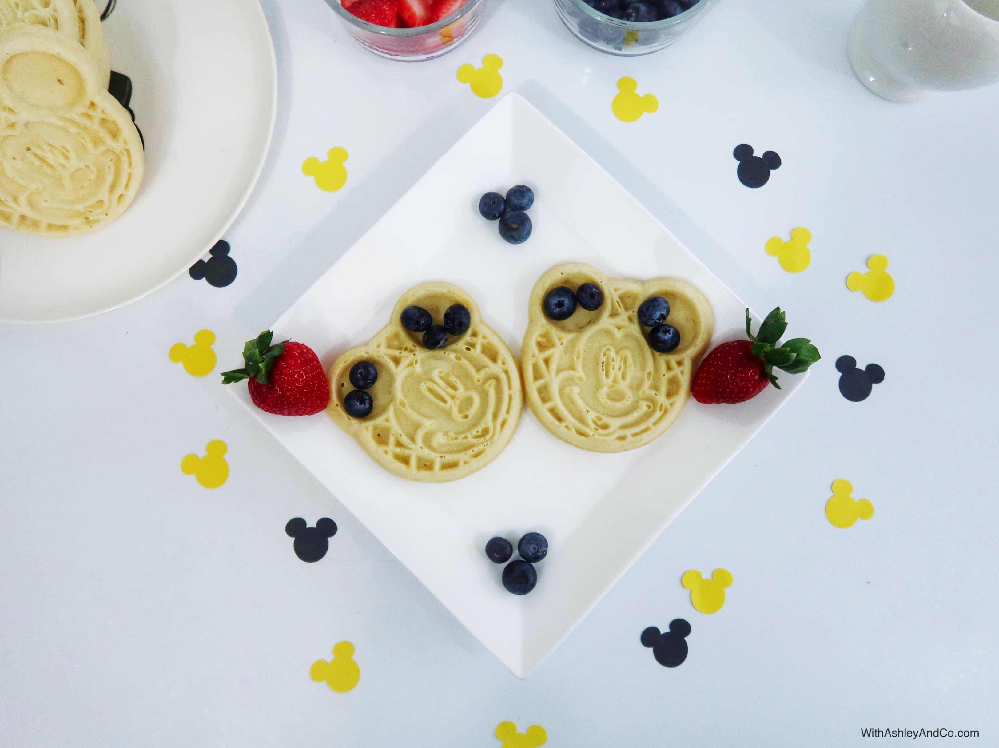 DIY Mickey Mouse Waffle Breakfast