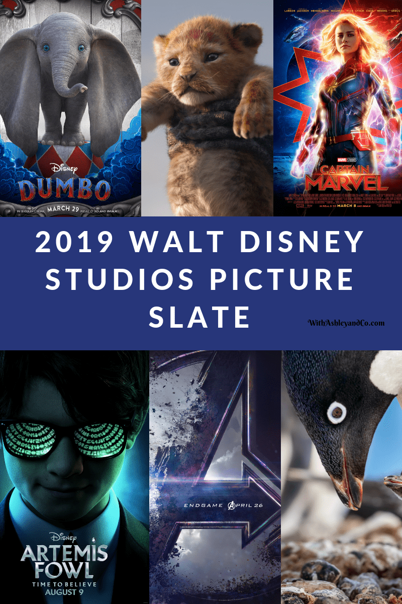 2019 Walt Disney Studios Picture Slate