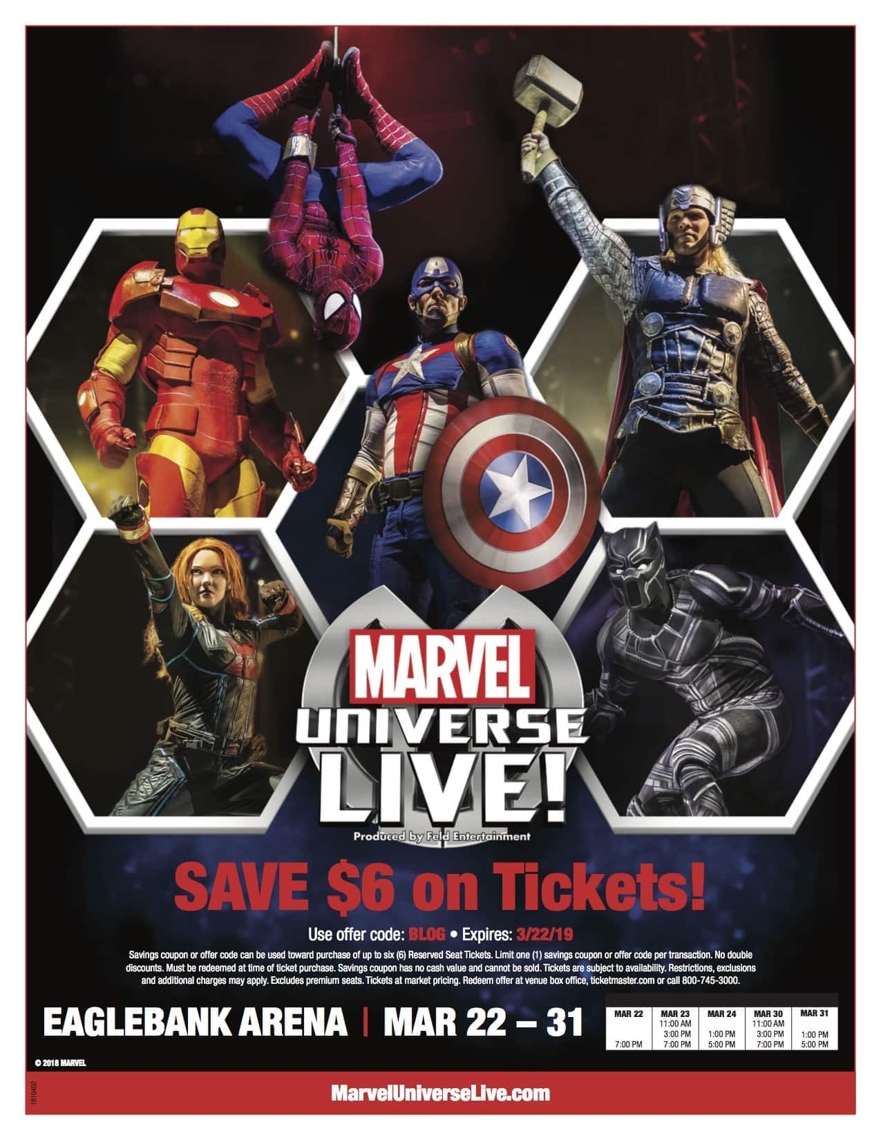 Marvel Universe Live Ticket Giveaway