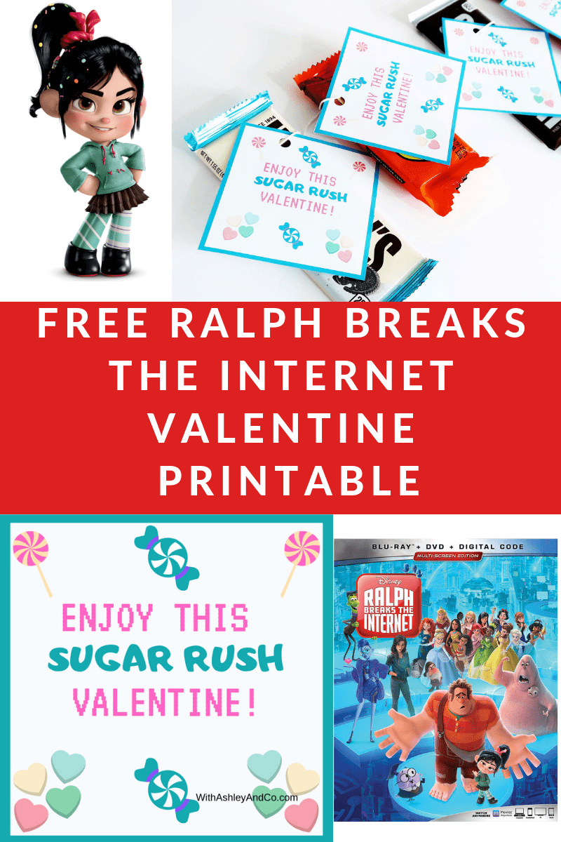 Free Ralph Breaks The Internet Valentine Printable