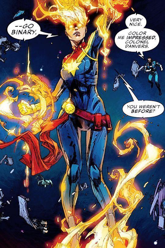 Captain Marvel Easter Eggs, Captain Marvel Binary