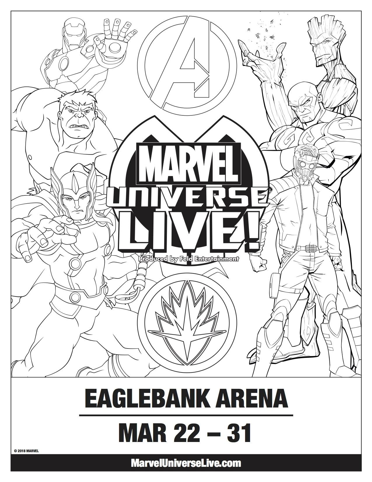 Marvel Universe LIVE Coloring Sheet