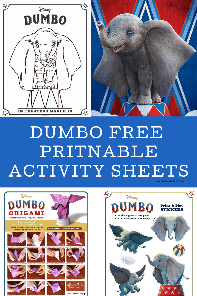 Dumbo Free printable Activity Sheets, Dumbo Movie Review