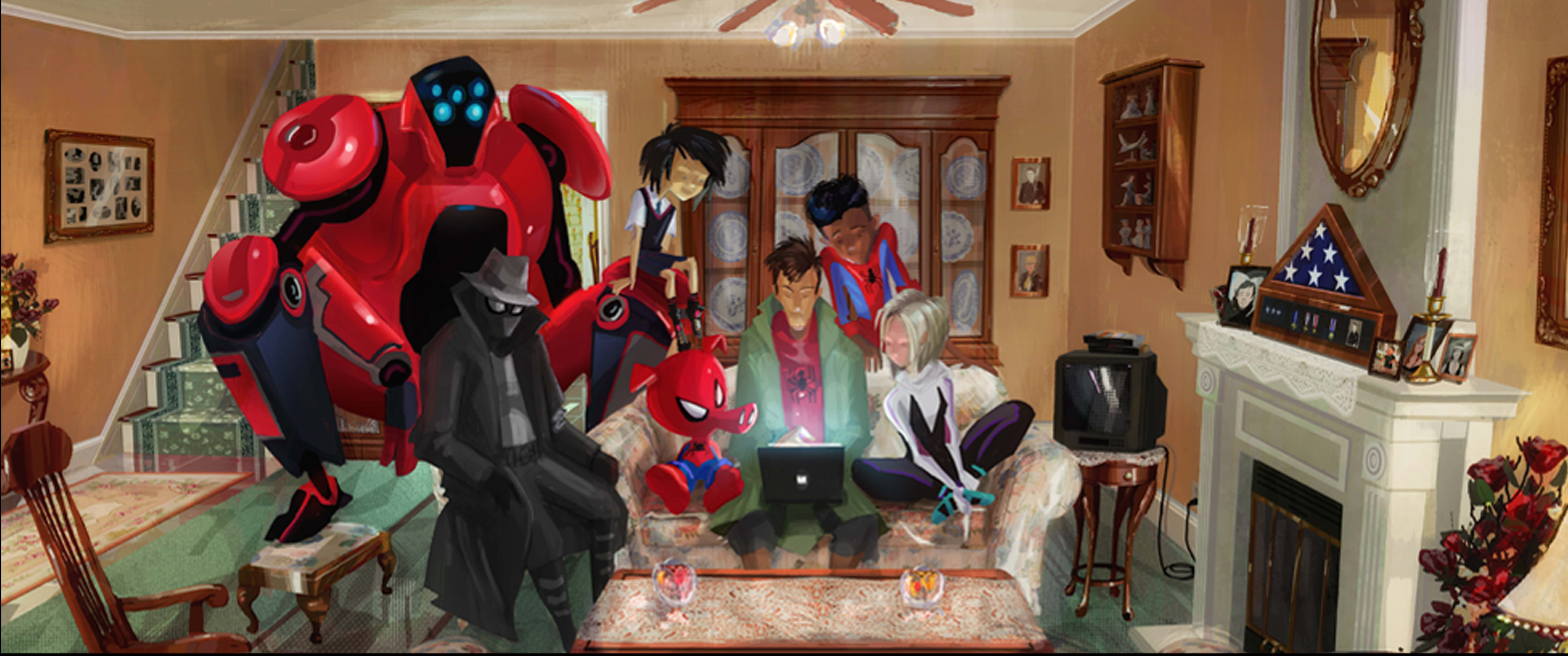 Spider-Man Into The Spider-Verse Giveaway, Spider-Man Into The Spider-Verse Concept Art