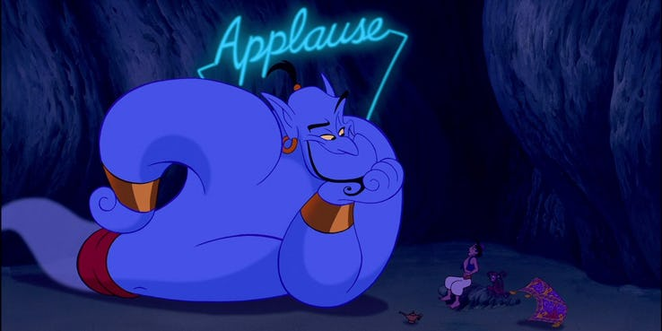 Aladdin Easter Eggs, Robin Williams Genie