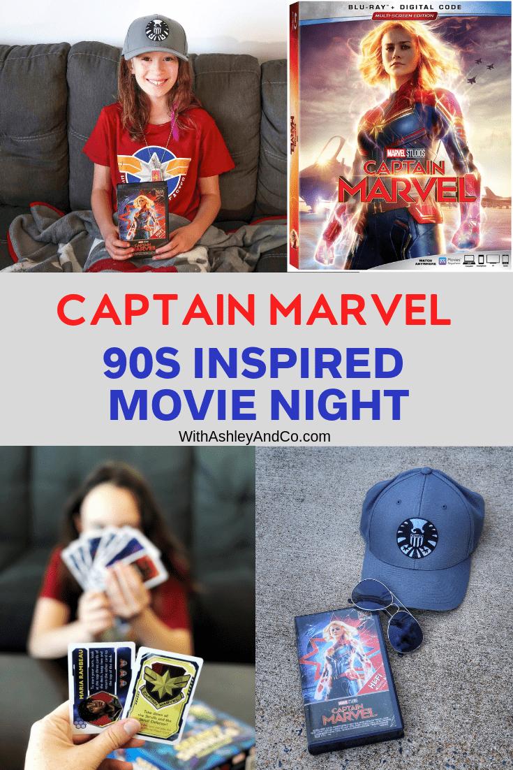 90s Inspired Captain Marvel Movie Night