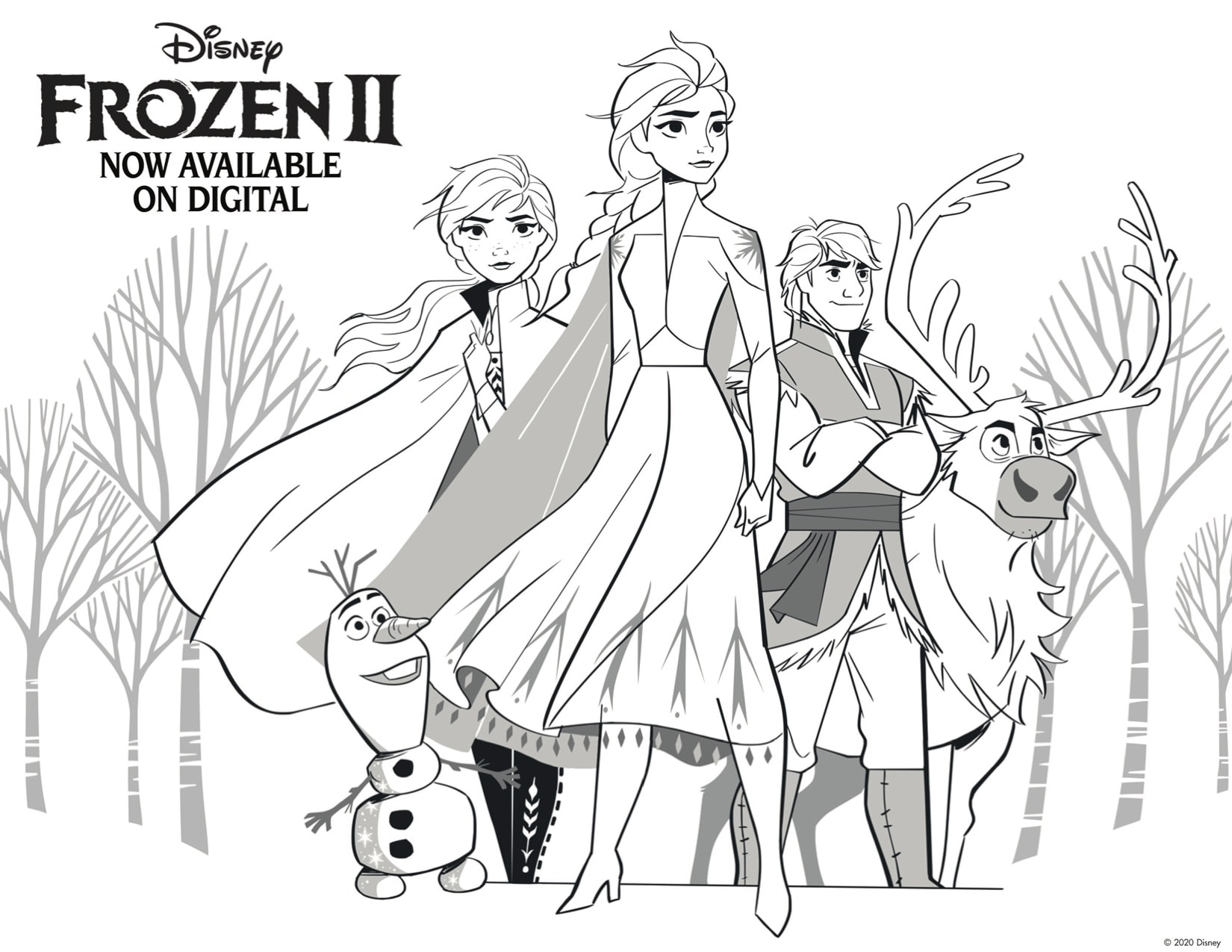 Free Frozen 2 Printable Activities