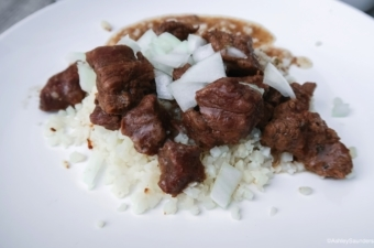 Beef Tips with Vidalia Onion Gravy
