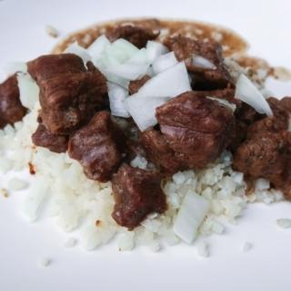 Beef Tips with Vidalia Onion Gravy