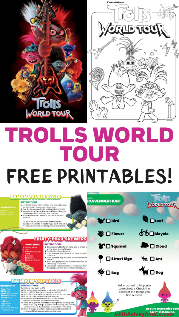 Free Trolls World Tour Printable Activities