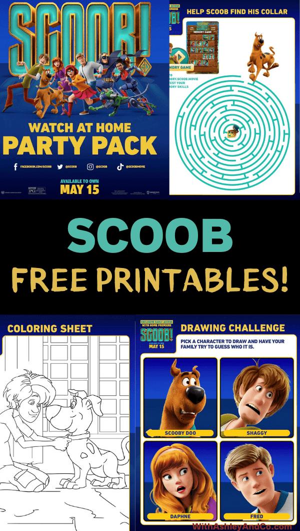Free Scoob Printable Activities