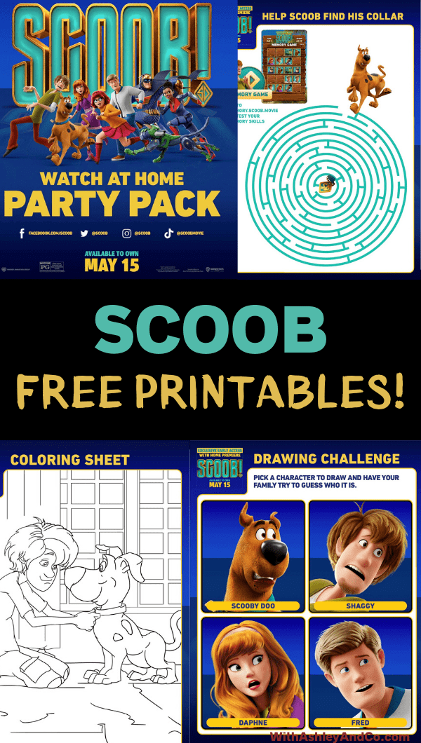 Free Scoob Printable Activities