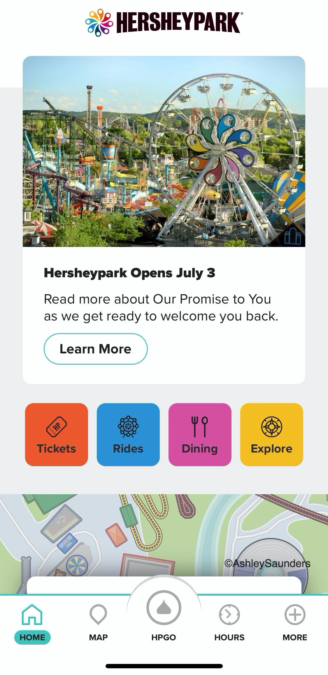 Hersheypark app mobile ordering