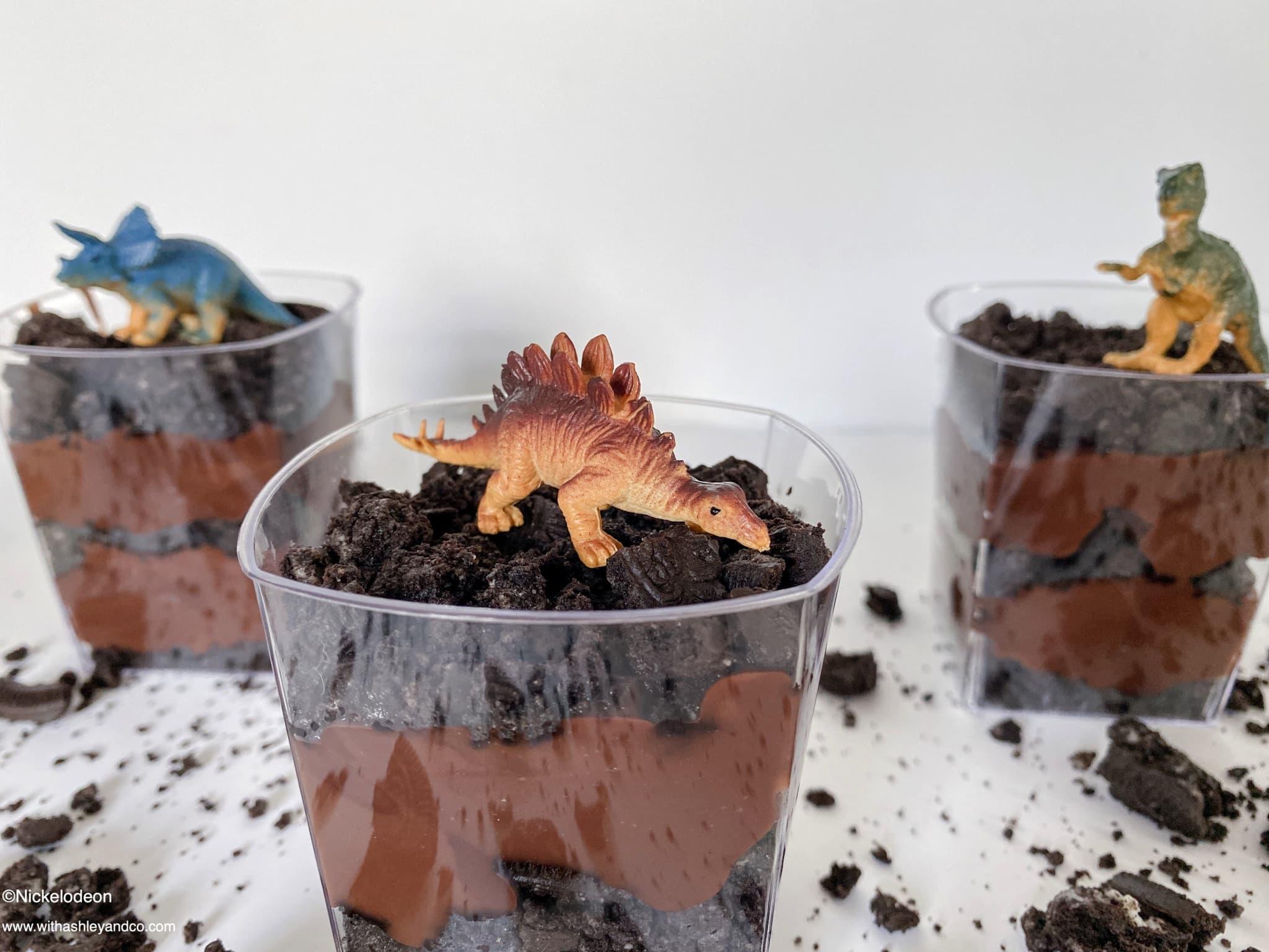 Dinosaur Dirt Cups Snack