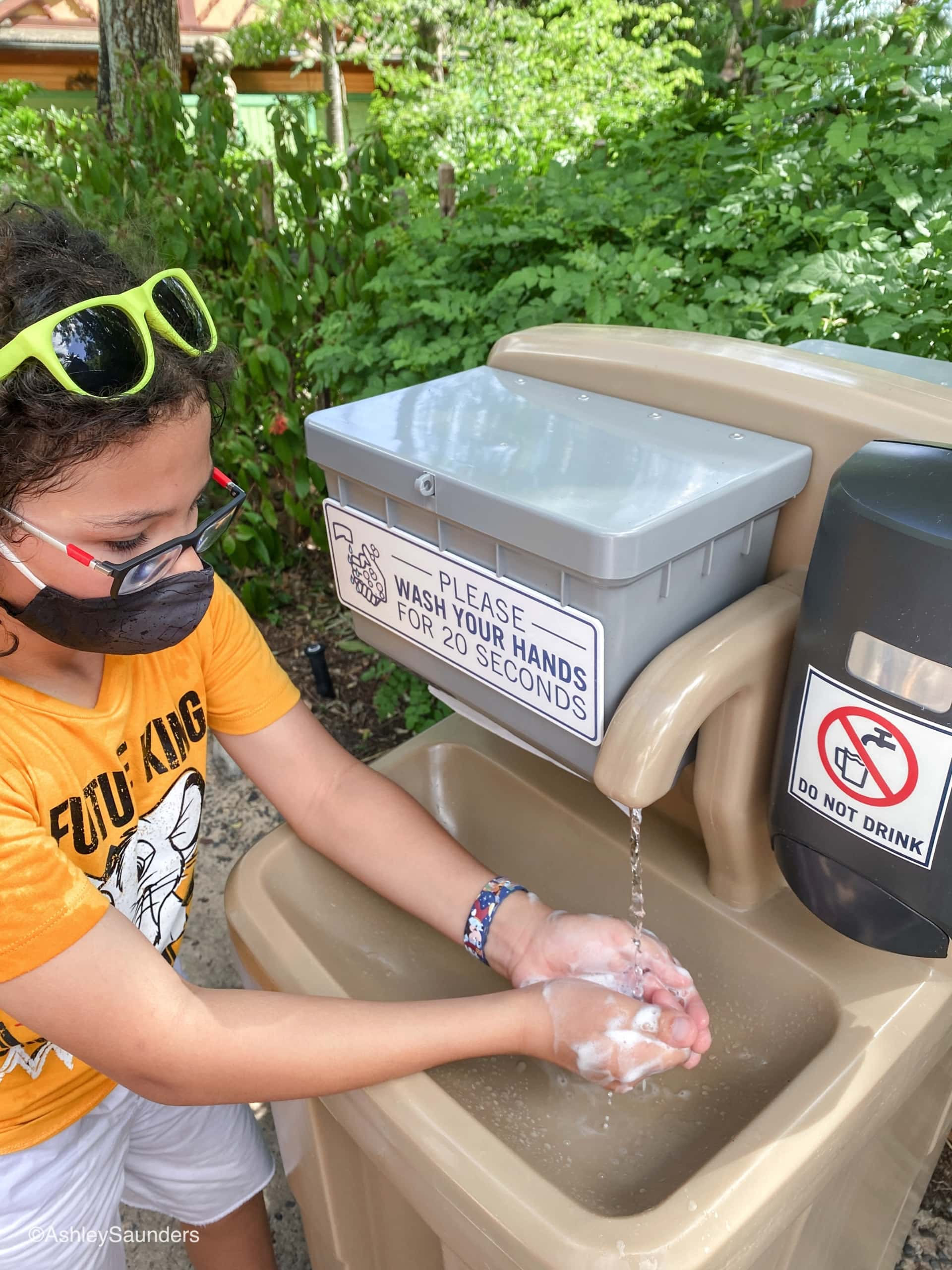 Disney World in 2020 Hand washing Stations