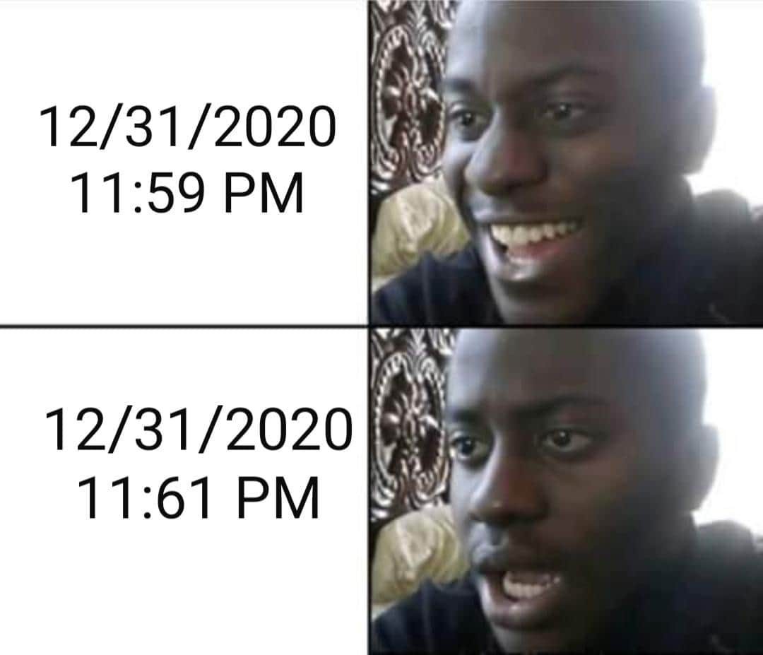 2020 New Years eve meme