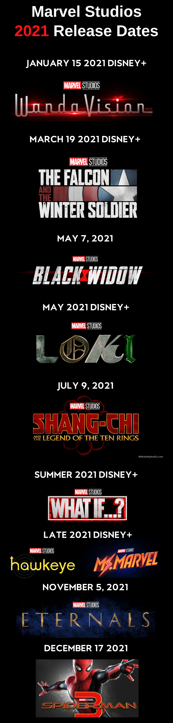 Marvel 2021 Release Dates