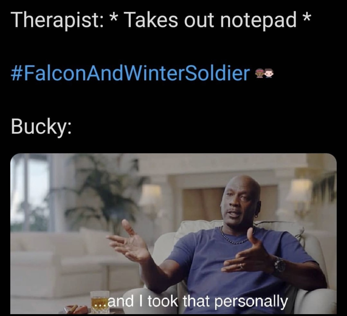 falcon and the winter soldier memes Bucky therapy