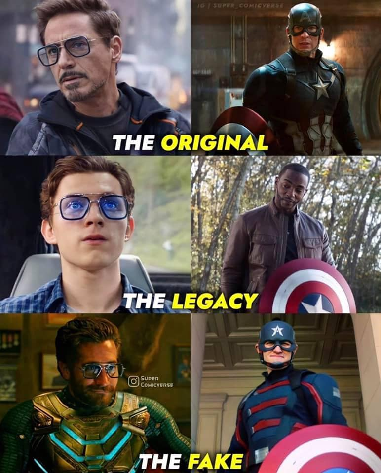 falcon and the winter soldier memes fake Captain America