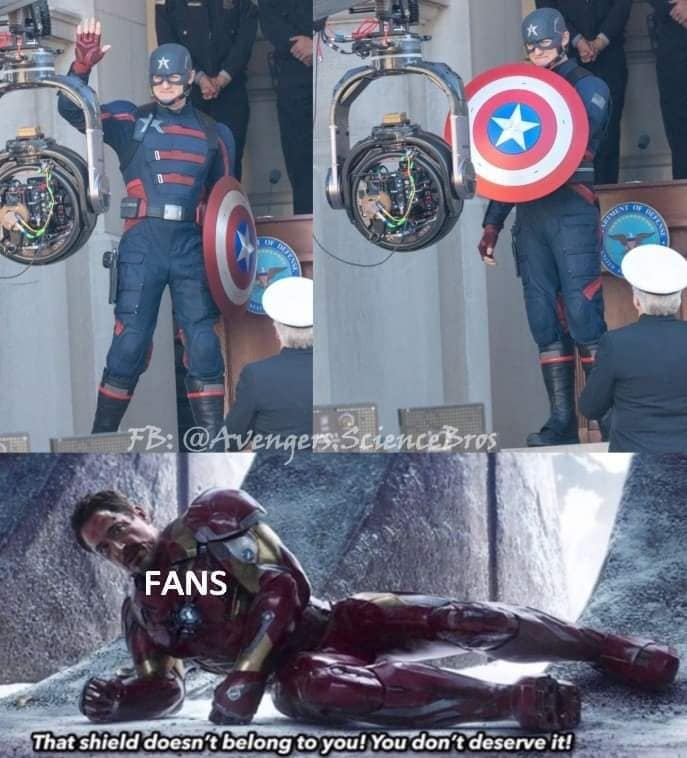 falcon and the winter soldier memes not my Captain America