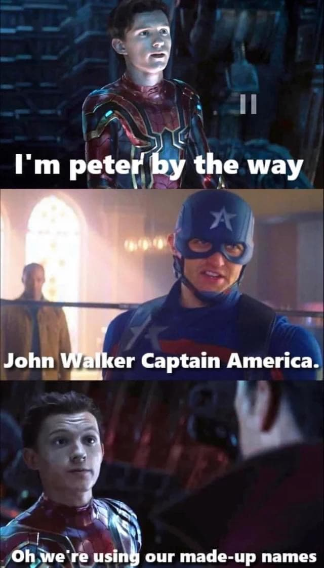 falcon and winter soldier memes made up names
