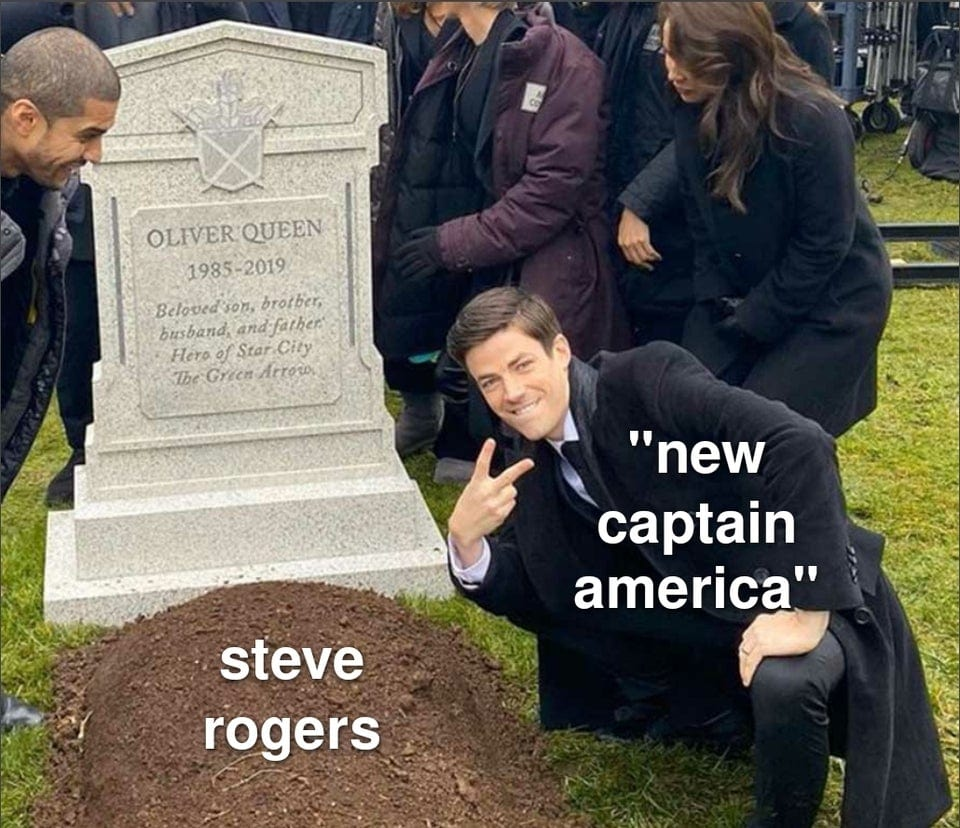 falcon and winter soldier memes new cap