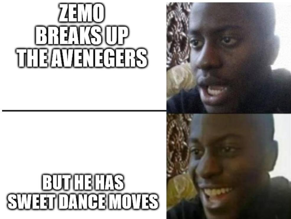 falcon and winter soldier memes zemo dance