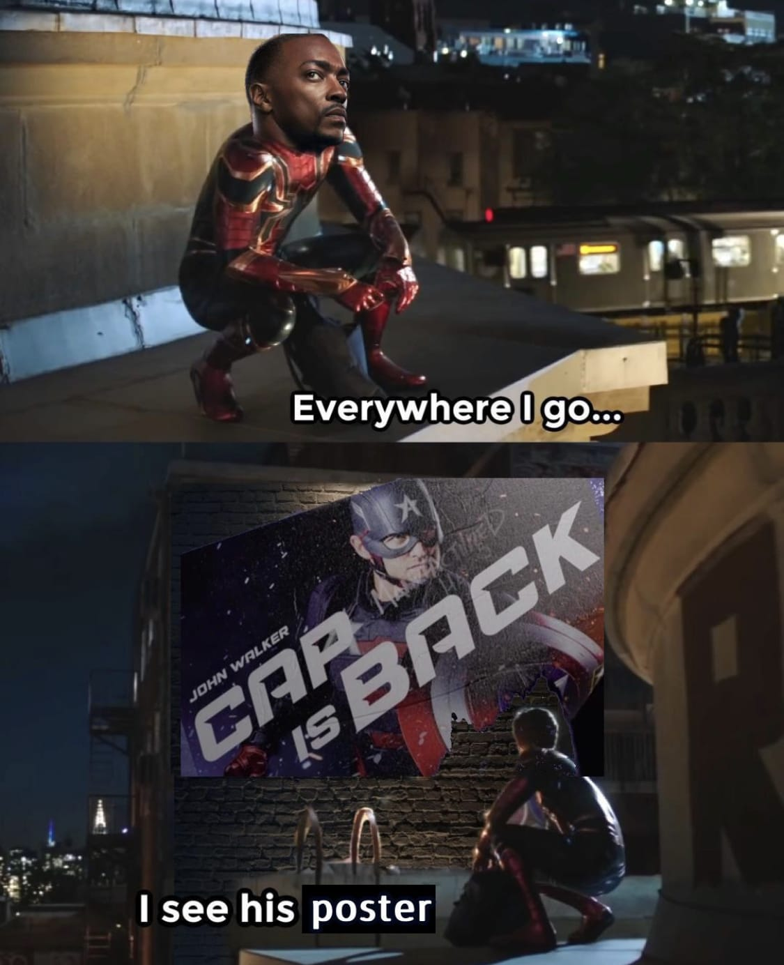 falcon and the winter soldier memes Spiderman