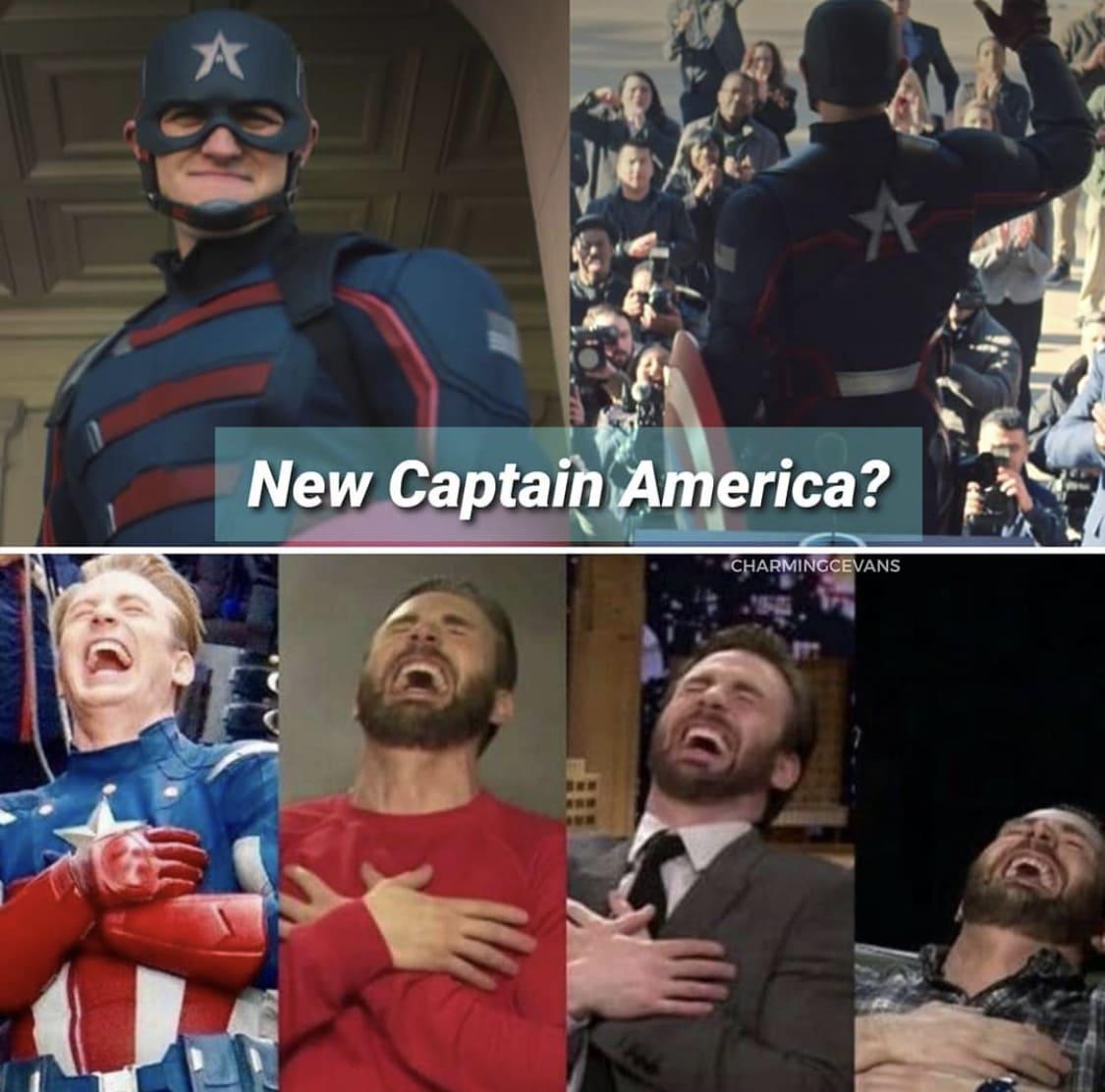 not my Captain America memes Chris Evans laughing