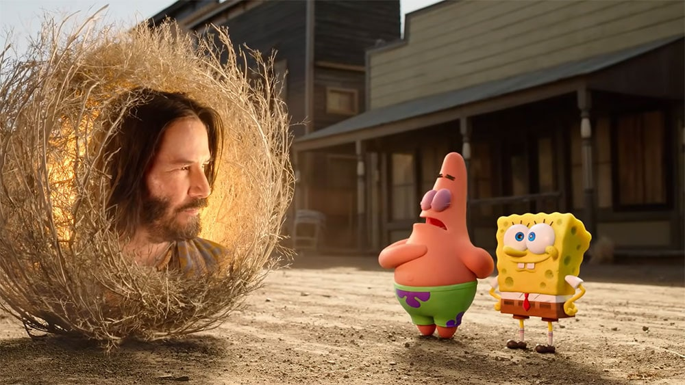 spongebob movie review Keanu