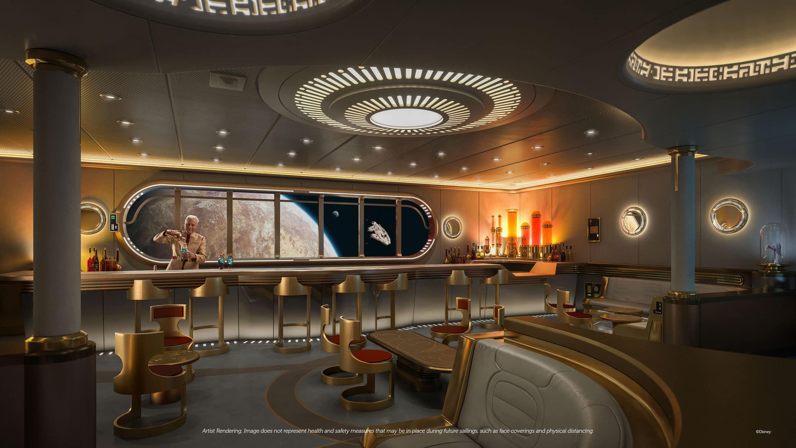 Disney Wish Star Wars lounge