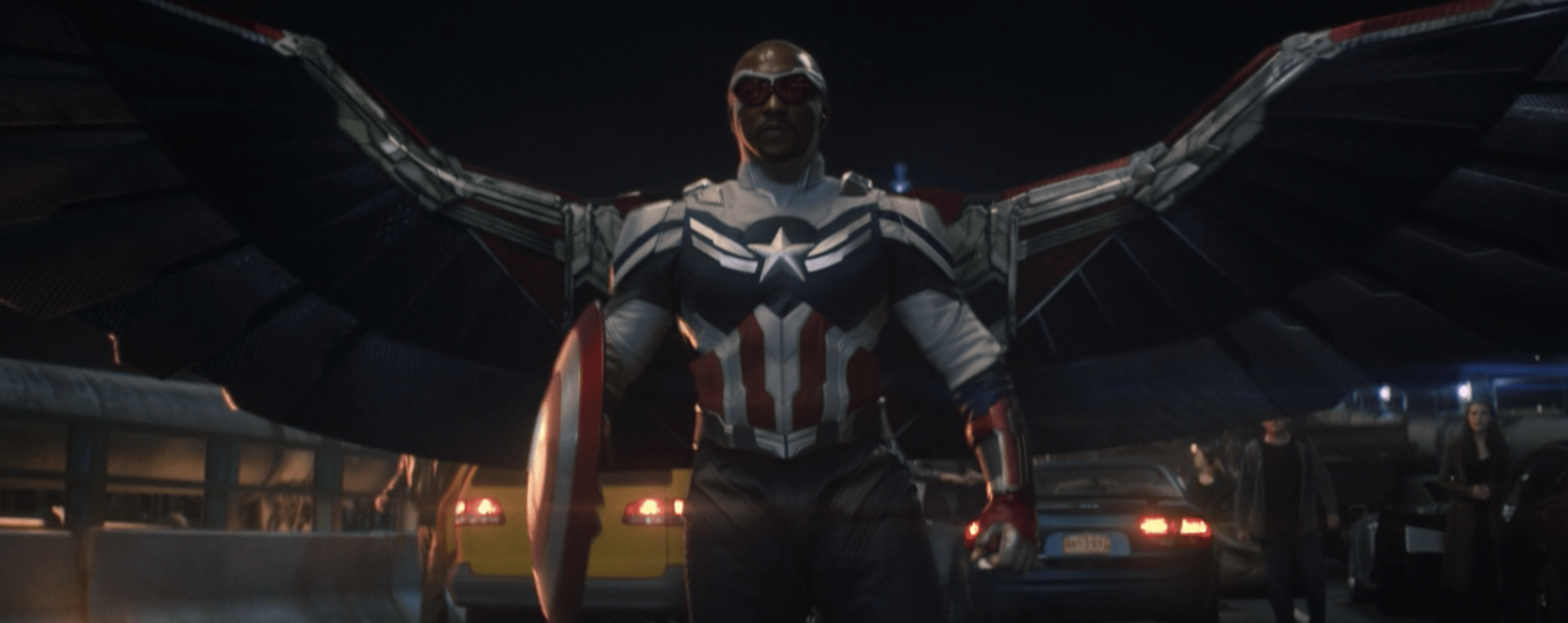 Falcon and Winter Soldier Episode 6 Sam Captain America Suit
