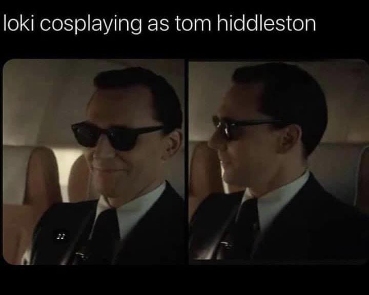 loki memes cosplaying as tom hiddleston