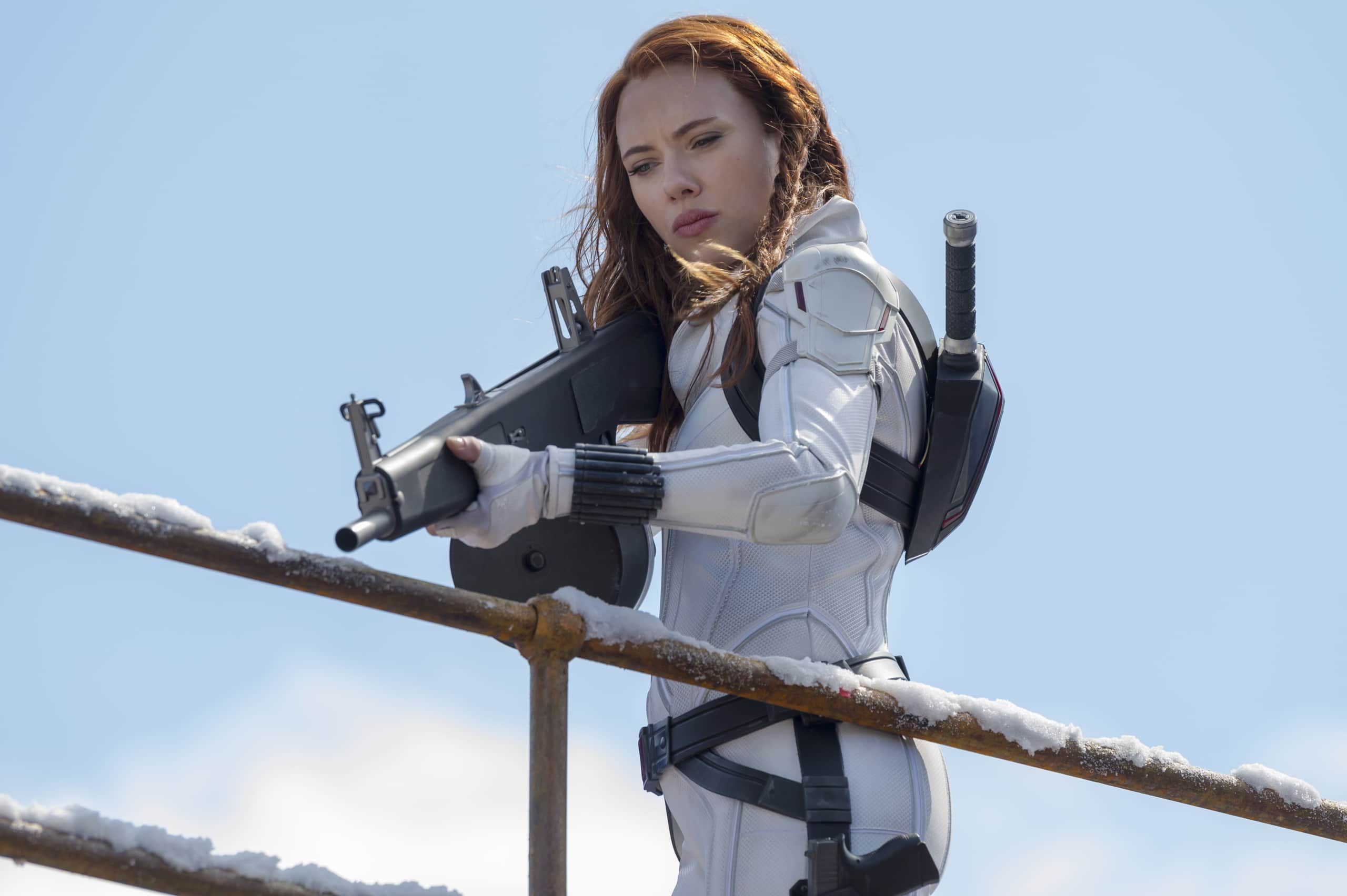 Black Widow Easter Eggs White Suit