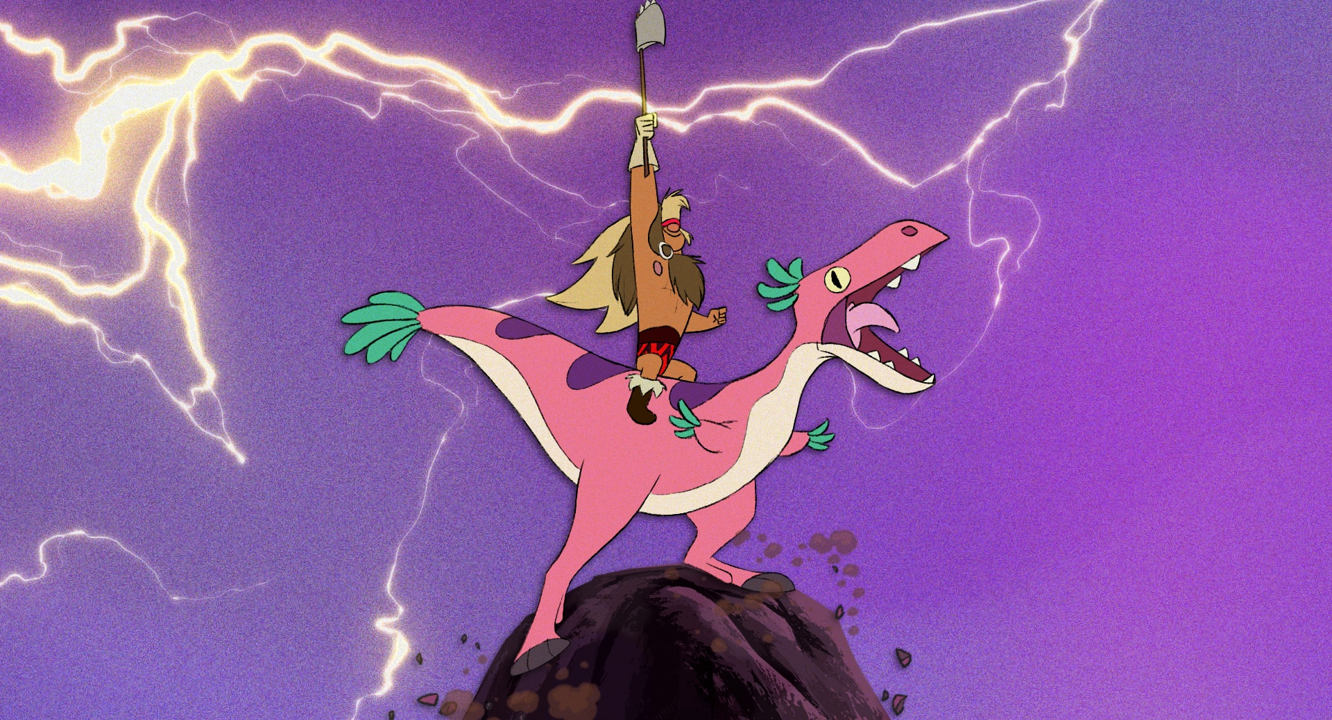 dinosaur barbarian short circuit